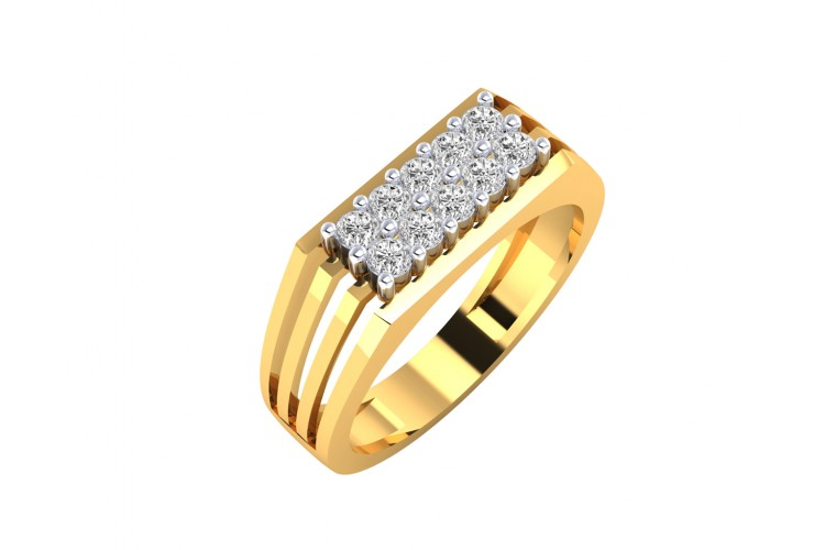 Kevin diamond ring in 18k  Gold